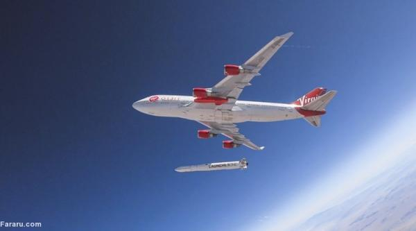 (ویدئو) پرتاب موشک به فضا از روی بال هواپیمای مسافربری!